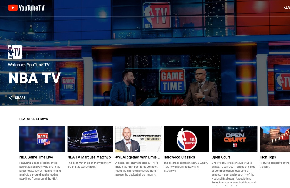 How to Stream NBA Games with YouTube TV